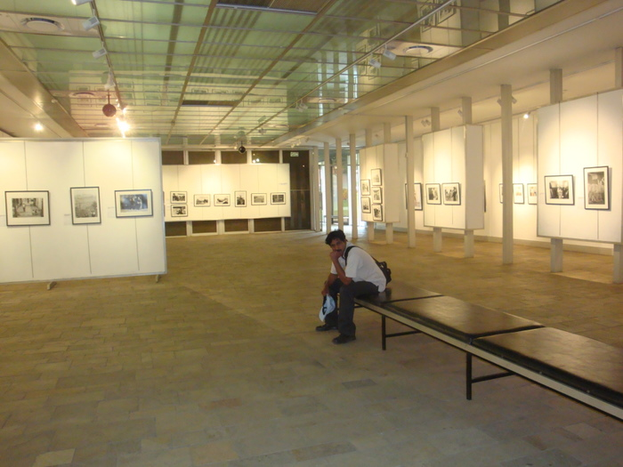 alone in gallery