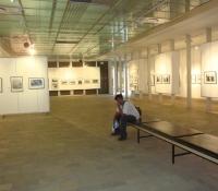 alone in gallery